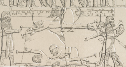 Skinning Elamites, Ashurbanipal